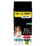 PRO PLAN Dog Adult Medium Sens.Dig.Lamb 14+2,5 kg zdarma