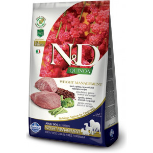 N&D GF Quinoa DOG Weight Mnmgnt Lamb & Broccoli 2,5 kg