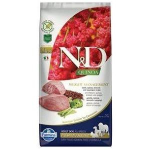 N&D GF Quinoa DOG Weight Mngmnt Lamb & Broccoli 7 kg