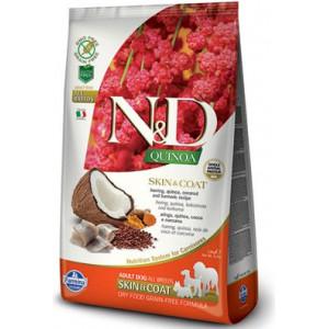 N&D GF Quinoa DOG Skin&Coat Herring & Coconut 800 g
