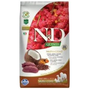 N&D GF Quinoa DOG Skin&Coat Venison & Coconut 2,5 kg