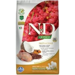 N&D GF Quinoa DOG Skin&Coat Quail & Coconut 2,5 kg