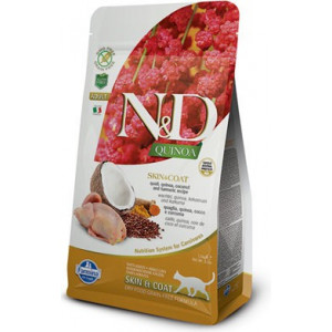 N&D GF Quinoa CAT Skin&Coat Quail & Coconut 300 g