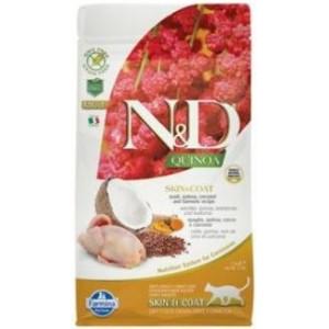 N&D GF Quinoa CAT Skin&Coat Quail & Coconut 1,5 kg