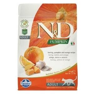 N&D GF Pumpkin CAT Herring & Orange 300 g