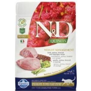 N&D GF Quinoa CAT Weight Mngmnt Lamb & Broccoli 300 g