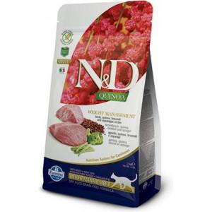 N&D GF Quinoa CAT Weight Mngmnt Lamb & Broccoli 1,5 kg