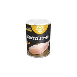 MARTY konz. pro psy DeLuxe-kuřecí prsa steak 400 g