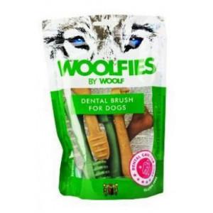Pochoutka dentální Woolfies Dental Brush M 200 g