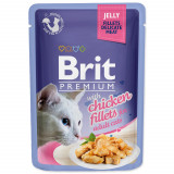 Kapsička BRIT Premium Cat Delicate Fillets in Jelly with Chicken 85g