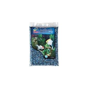 Písek akvarijní modrý mix odstínů Flamingo 1 kg 2-3 mm
