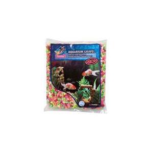 Písek akvarijní Neon duhový Flamingo 1 kg 4 -7 mm