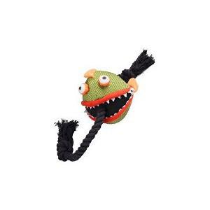 Hračka pes Veselá piraňa s provazem 59 cm KAR 1 ks