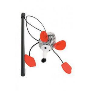 Hračka kočka udice s myškou L textil Zolux
