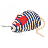 Hračka kočka Myš sisal s kuličkami 10 cm TR 1 ks