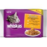 Whiskas kapsa Delice grilované maso Bonus 4pack 85g