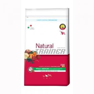 Trainer Natural Adult Medium Beef Rice Ginsen. 12,5kg