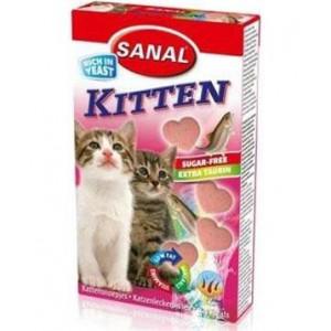 Sanal kočka Kitten srdíčka losos + taurin 40 tbl