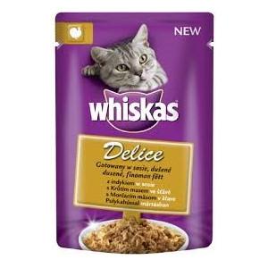 Whiskas kapsa Delice dušené s krútím ve šťávě 85g