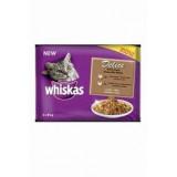 Whiskas kapsa Delice dušené drůbeží Bonus 4pack 85g