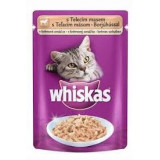 Whiskas kapsa s telecím   v krém. omáčce 100g