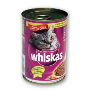 Whiskas konzerva drůbeží   ve šťávě 400g