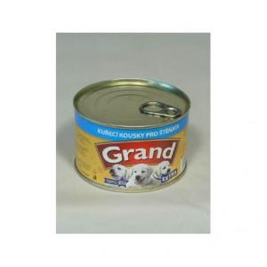 GRAND konzerva štěně Extra kuř.kousky 405 g