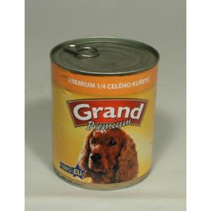 GRAND konzerva pes Extra s 1/4 kuřete 850 g