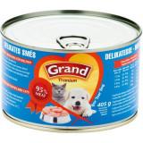 GRAND konzerva štěně,kočka Delikates mas.směs 405 g