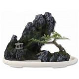 Dekorace AQUA EXCELLENT Bonsai + skála 13 x 7 x 10 cm 1ks