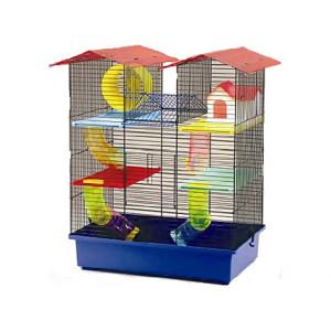 Klec SMALL ANIMALS CH2 modrá + červená 1ks