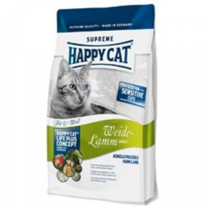 Happy Cat Supreme Fit & Well Weide-Lamm 10 kg