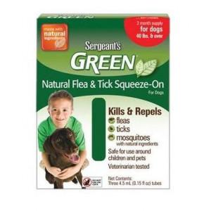 Sergeanťs Green spot on pro psy nad 30 kg 4x5ml