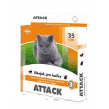 Antiparazitární obojek Attack pro kočky 35 cm