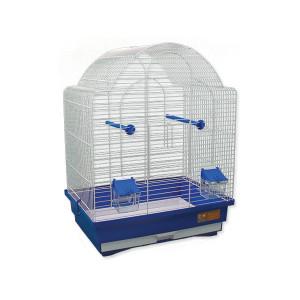 Klec BIRD JEWEL K9 bílá + modrá 1ks