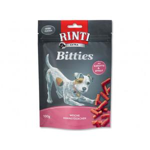 Pochoutka RINTI Extra Bitties kuře + karotka + špenát 100g