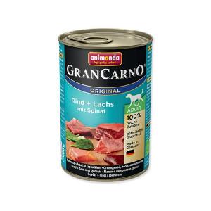 Konzerva ANIMONDA Gran Carno hovězí + losos + špenát 400g