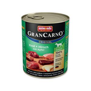 Konzerva ANIMONDA Gran Carno hovězí + jelení maso + jablka 800g