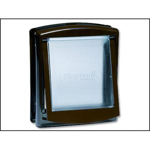Dvířka STAYWELL hnědá s transparentním flapem 730 1ks