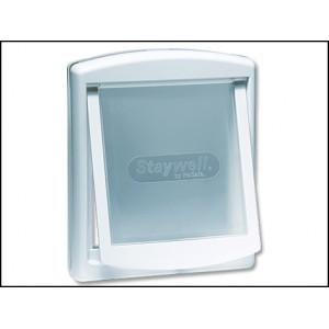 Dvířka STAYWELL bílá s transparentním flapem 740 1ks