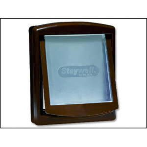 Dvířka STAYWELL hnědá s transparentním flapem 755 1ks