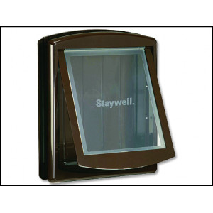 Dvířka STAYWELL hnědá s transparentním flapem 775 1ks