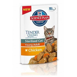 Hills Feline kapsa Adult Young Sterilised Chicken 85g