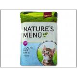 Kapsička SCHMUSY Nature Kitten losos + jehně ve šťávě 100g
