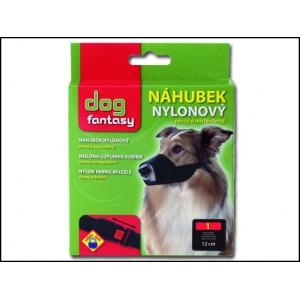 Náhubek DOG FANTASY nylonový černý č.1 1ks
