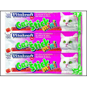 Cat Stick VITAKRAFT Mini Ente + Kaninchen 3ks