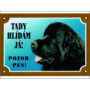 Tabulka DAFIKO novofoundlandský pes černý 1ks