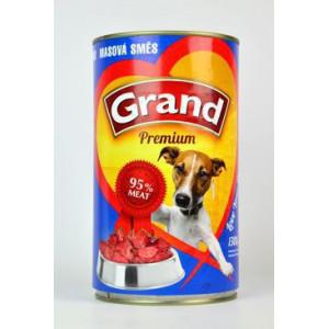 GRAND konzerva pes masová směs 1300 g