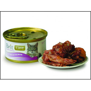 Konzerva BRIT Care Cat Tuna & Salmon 80g