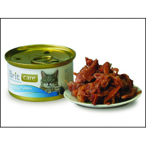 Konzerva BRIT Care Cat Tuna & Turkey 80g